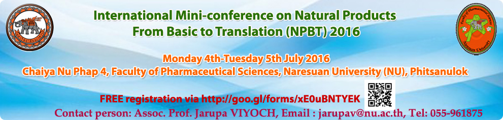 International Mini-conference on Natural Products  From Basic to Translation
